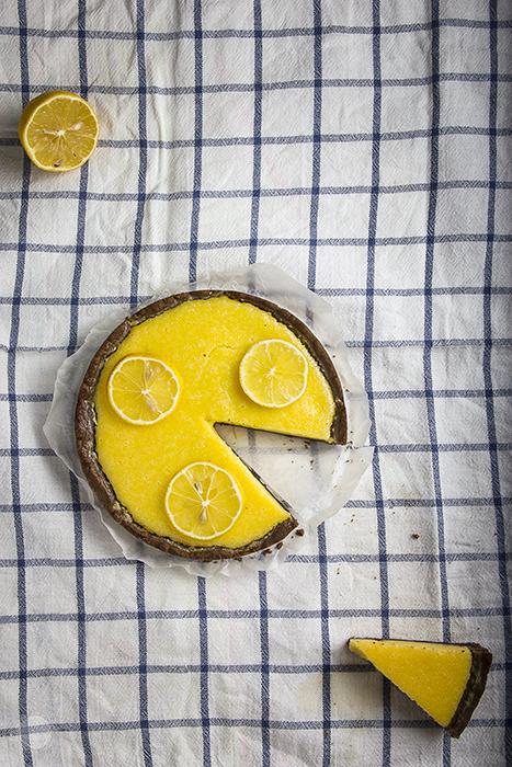 lemon rikota tart