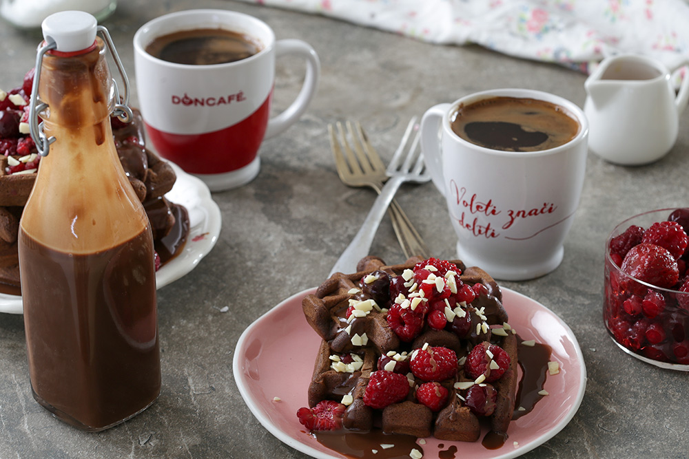 Duplo čokoladni vafli