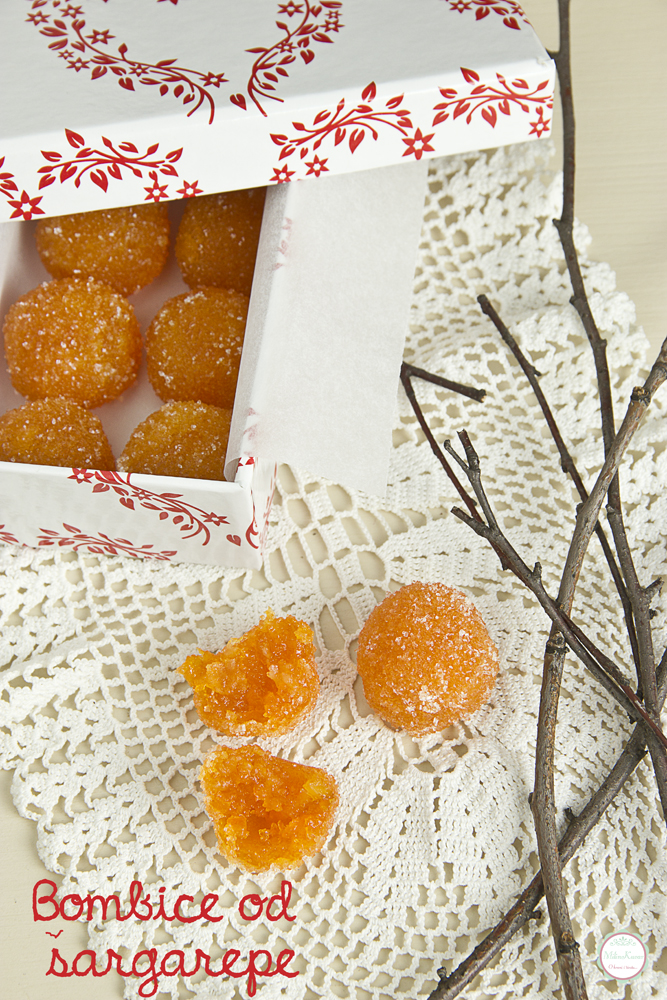 Bombice od šargarepe i kandirane pomorandže