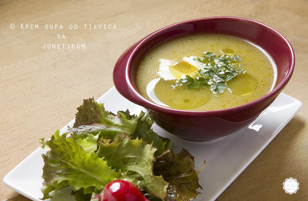 Krem supa od tikvica sa junetinom