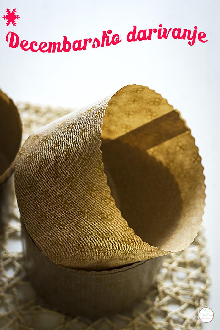 Osvojite papirne kalupe za Panettone slatki hleb ♥