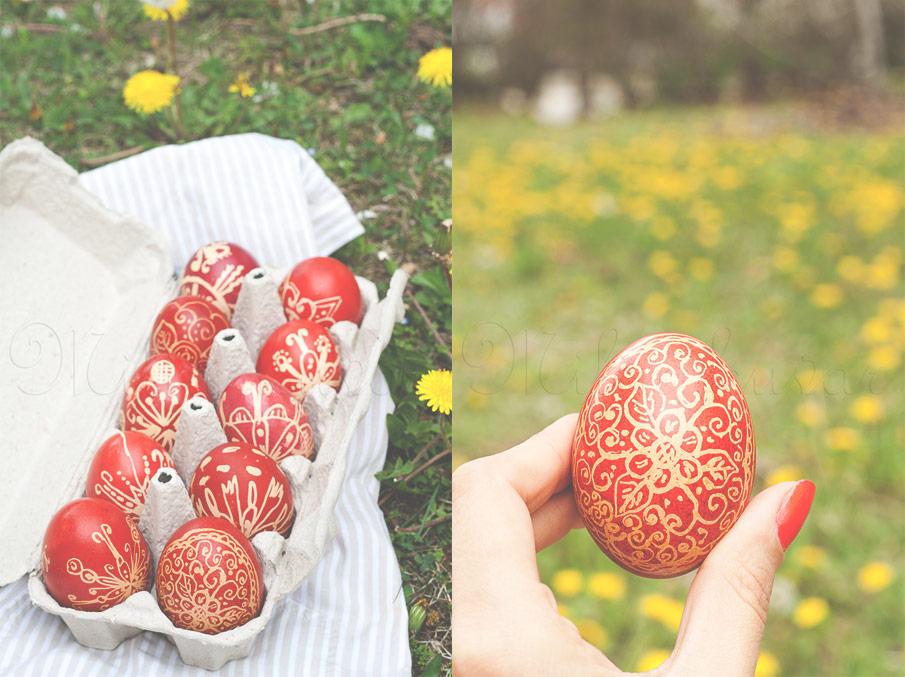 Šaranje jaja prirodnim voskom