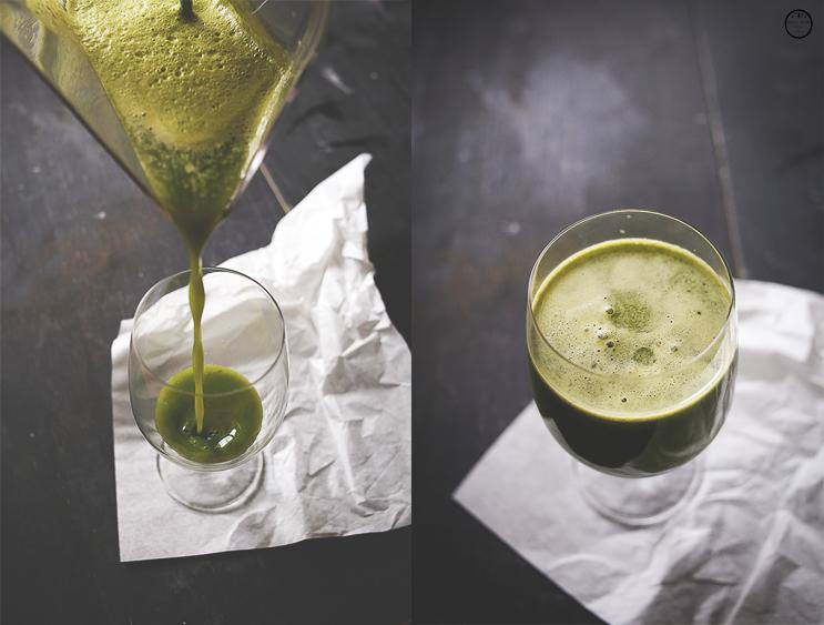 {Zdrava hrana} Zeleni sok od voća i povrća