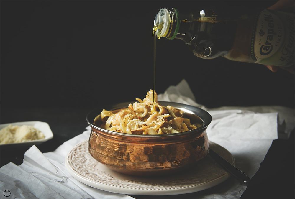 Taljatele sa lignjama u pesto sosu i maslinovom ulju