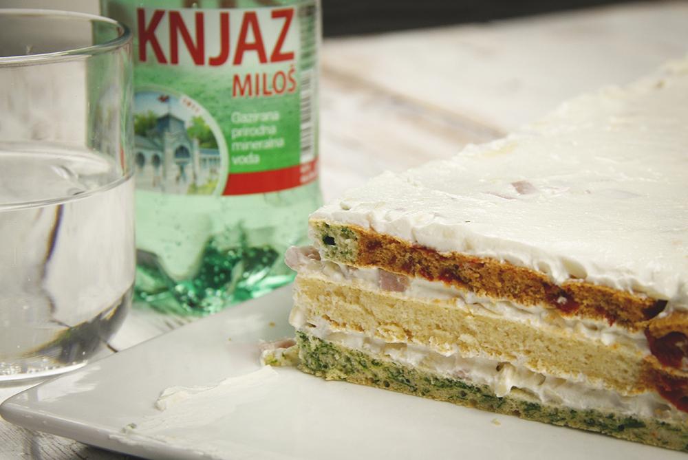 {Video recept} Šarena slana torta