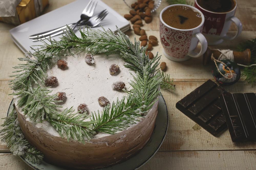 Magična ombre torta od lešnika i čokolade