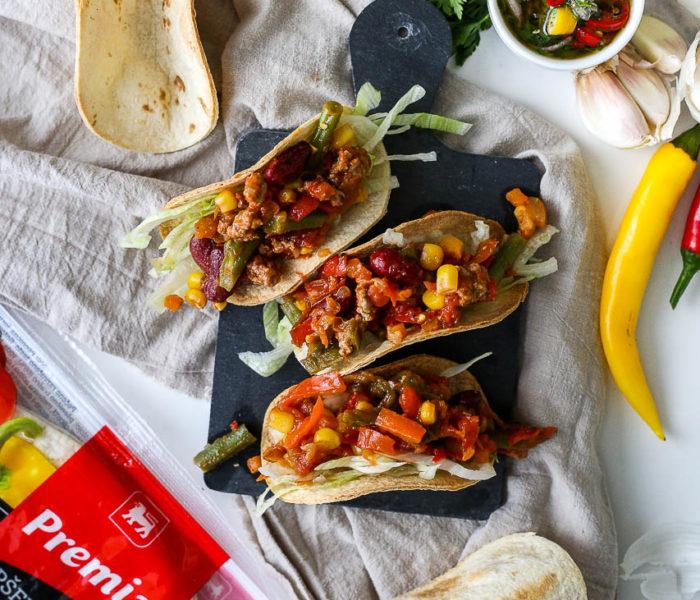 Pikantni takosi sa meksičkom mešavinom