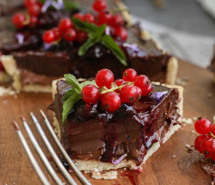 Čokoladni tart sa nutelom