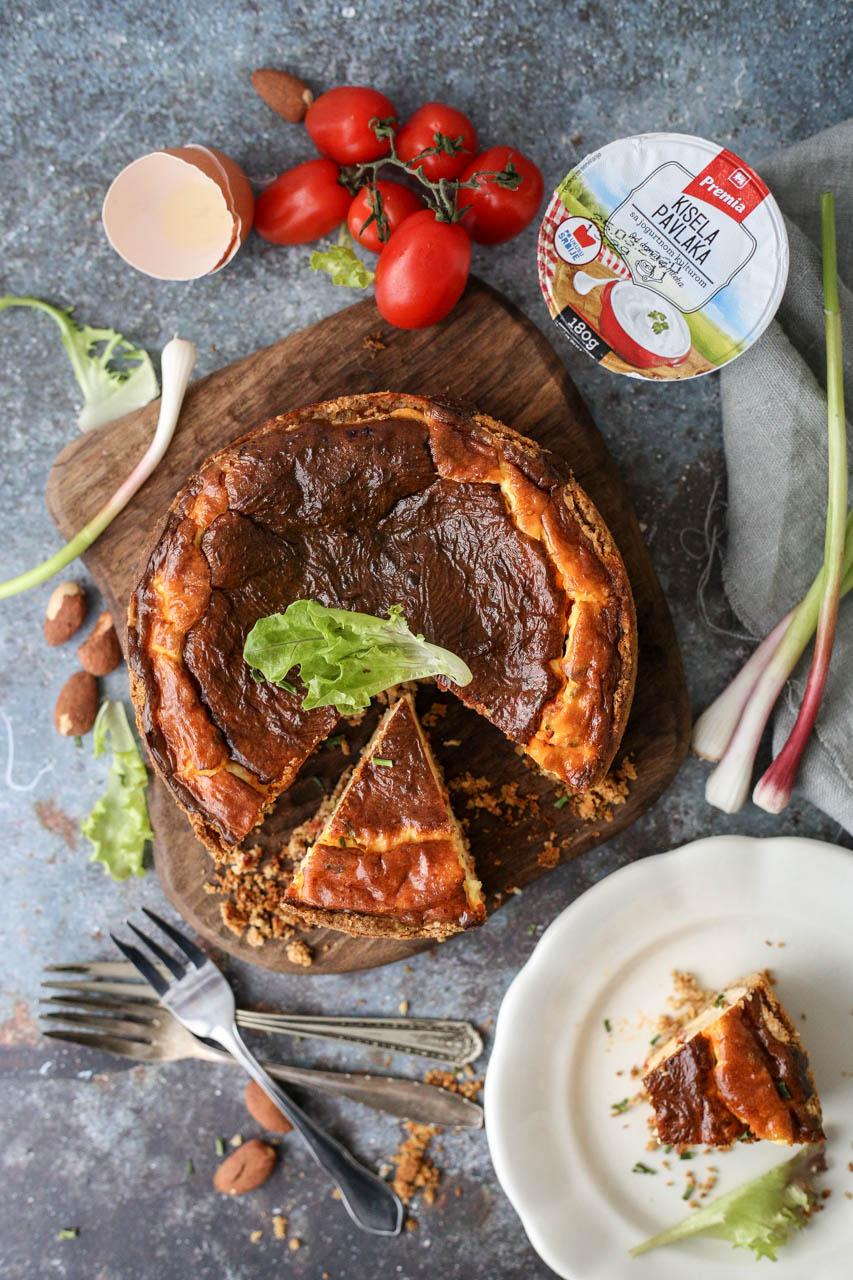 Slani kolač od sira sa kulenom