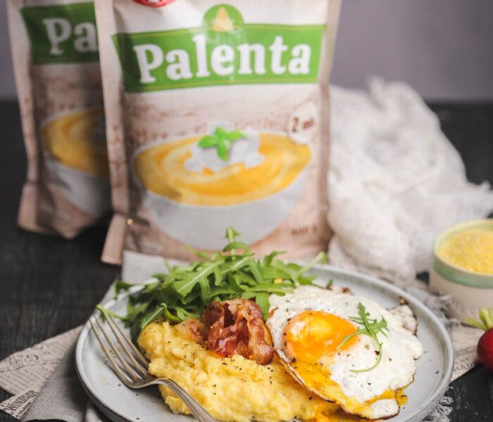 Kremasta palenta sa jajetom i slaninom